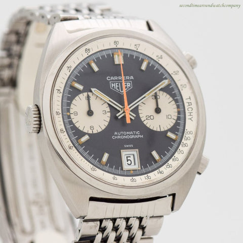 1969 Vintage Heuer Carrera Reference 1153-N Stainless Steel Watch