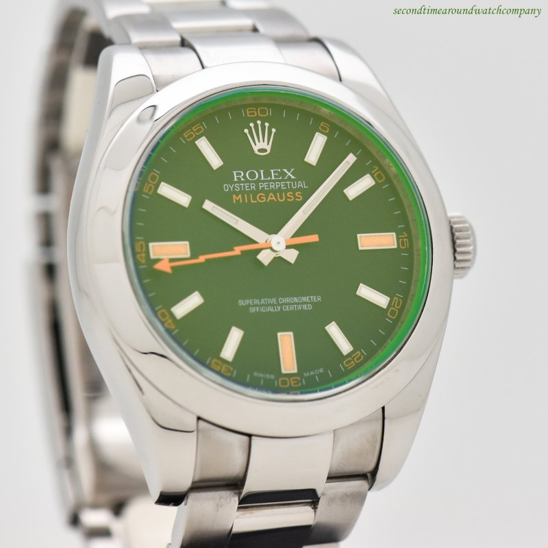 2008 Rolex Milgauss Stainless Steel Reference 116400 Watch