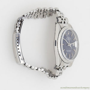 1963 Vintage Rolex Datejust Reference 1603 Stainless Steel Watch