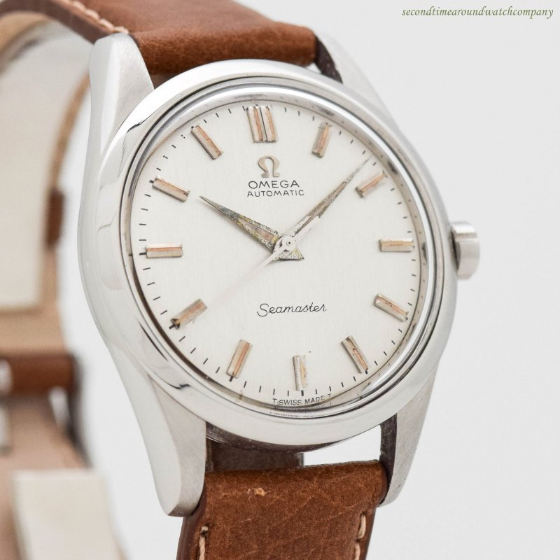 1958 Vintage Omega Seamaster Ref. 2975-3-SC Stainless Steel Watch