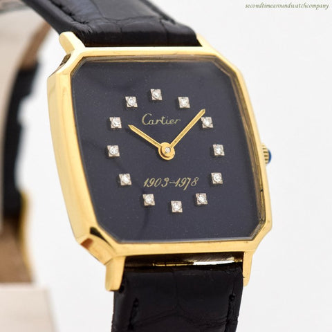 "1978 Vintage Cartier ""75 Year Ford Motor Company Anniversary"" 18k Yellow Gold Watch"