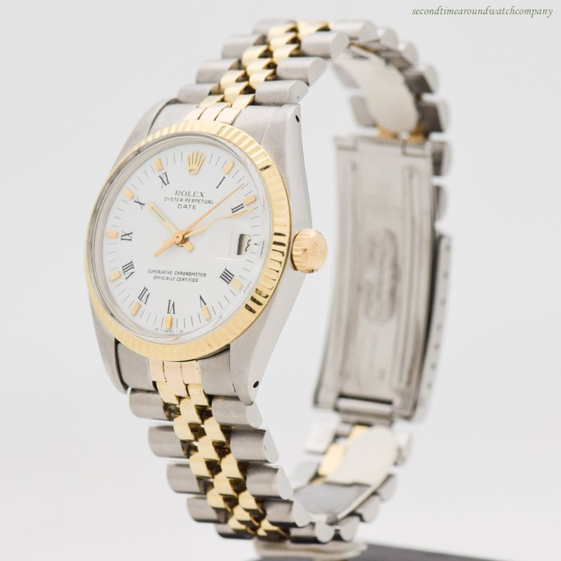 1979 Vintage Rolex Date Automatic Reference 1500 18k Yellow Gold & Stainless Steel Watch