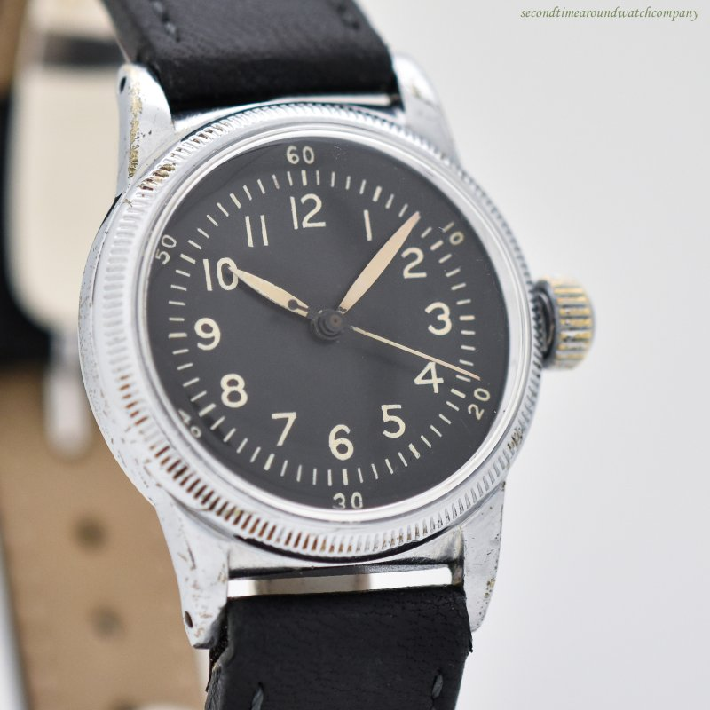 1944 Vintage Waltham WWII-era Military Base Metal Watch