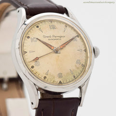 1950's Vintage Girard Perregaux Gyromatic Stainless Steel Watch