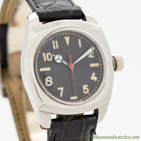 1943 Vintage Rolex Army Ref. 3139 Stainless Steel Watch