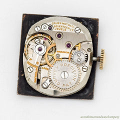 1940's Vintage Gruen Curvex 14k Yellow Gold Watch