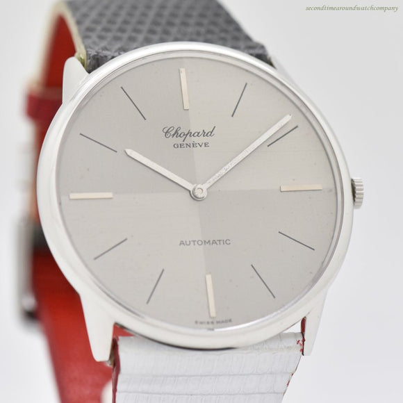 1980's Vintage Chopard Reference 50105/1027 18K White Gold Watch