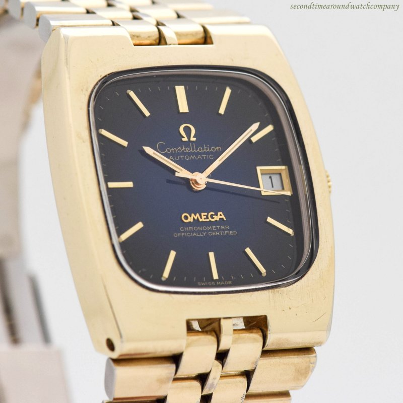 1971 Vintage Omega Constellation Ref. V-6330 14k Yellow Gold Plated & Stainless Steel Watch
