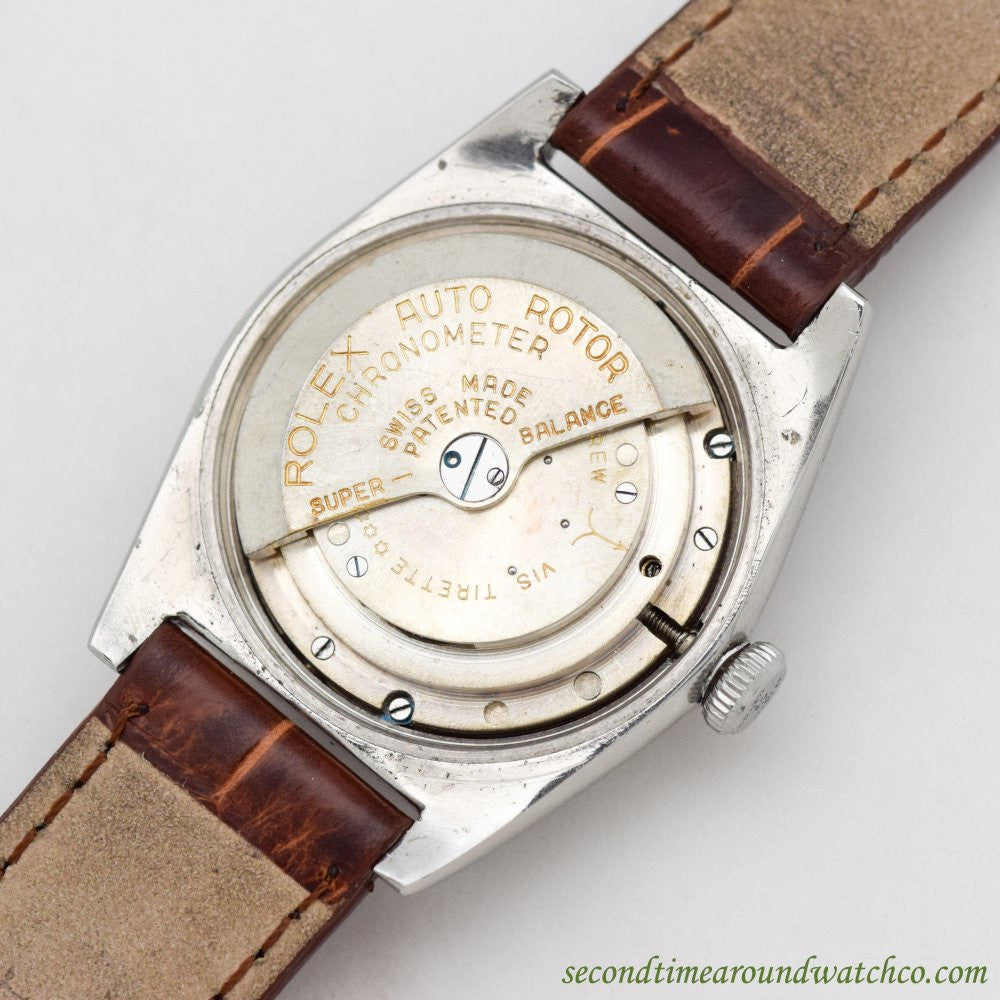 1945 Vintage Rolex Bubbleback Ref. 2940 Stainless Steel Watch