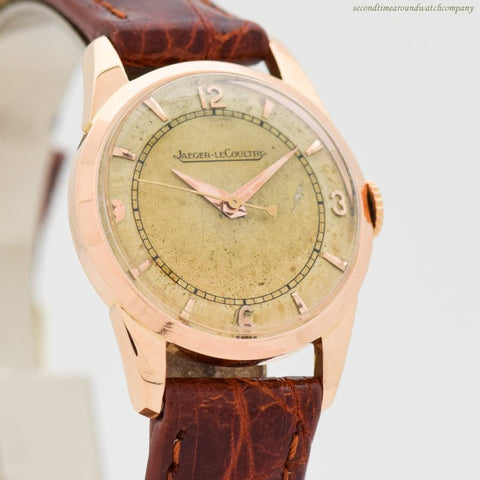 1960's Vintage Jaeger LeCoultre Ladies 18k Rose Gold Watch