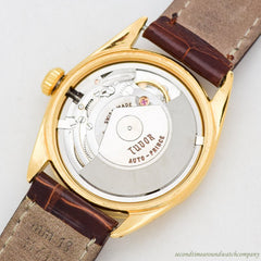 1960 Vintage Tudor By Rolex Prince Osterdate Ref. 7966 18k Yellow Gold Plated Watch