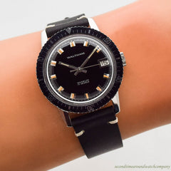 1970's era Waltham Divers Stainless Steel Watch