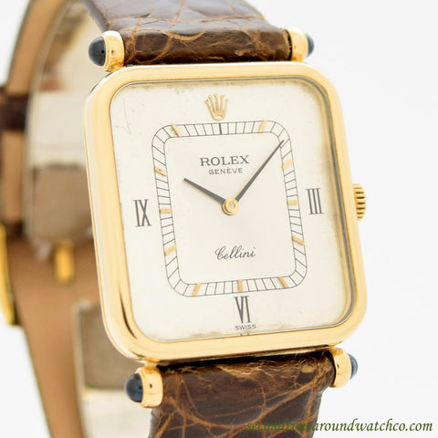 A. Men's Vintage  Rolex Cellini 18k Yellow Gold