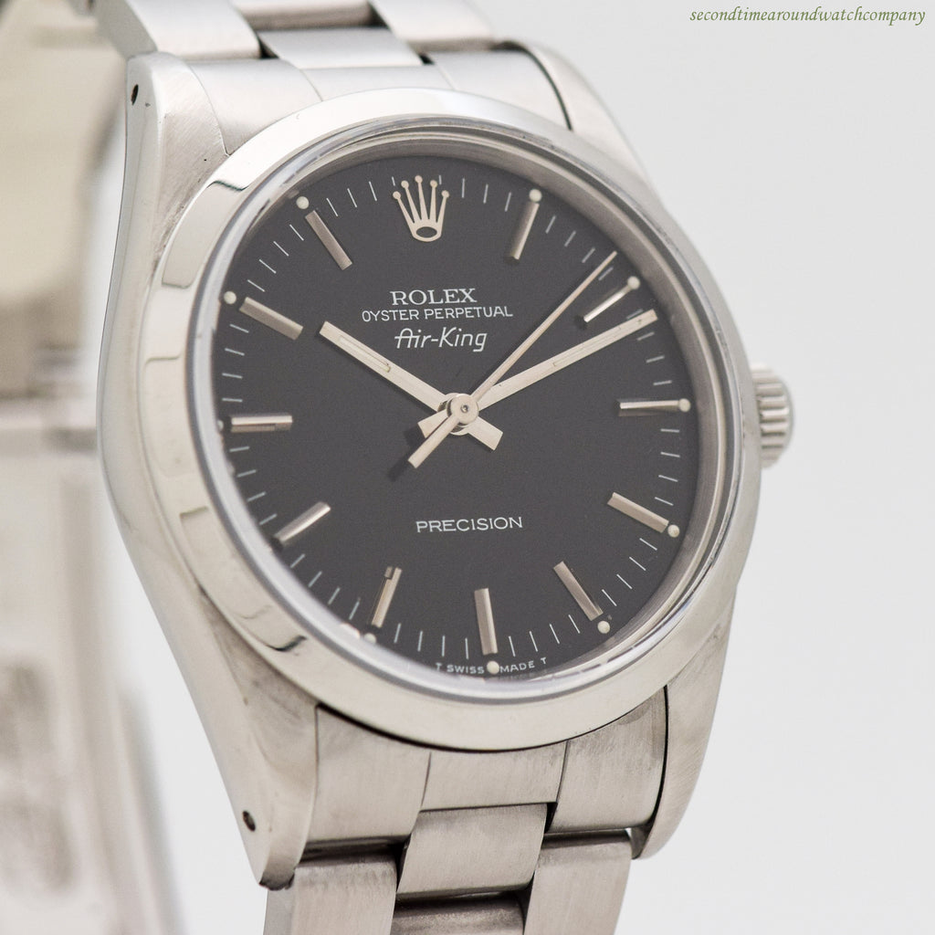1989 Rolex Air-King Reference 14000 Stainless Steel Watch