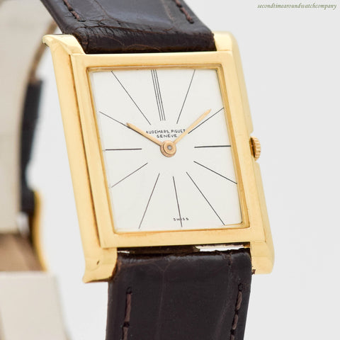 1950's Audemars Piguet Rectangular-shaped 18K Yellow Gold Watch