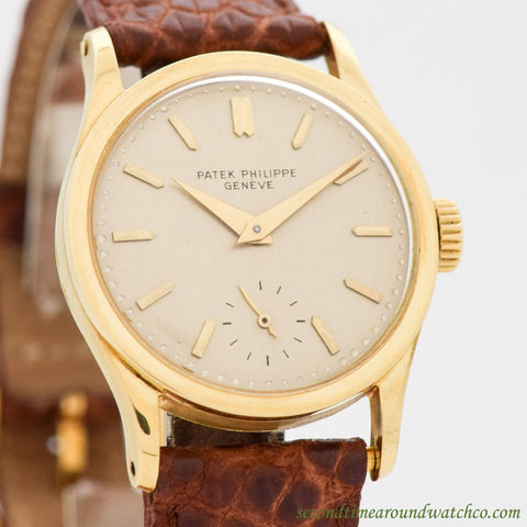 1955 Vintage Patek Philippe Calatrava Ref. 96 18k Yellow Gold Watch