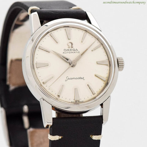 1960 Vintage Omega Seamaster Ref. 14704-4-SC Stainless Steel Watch
