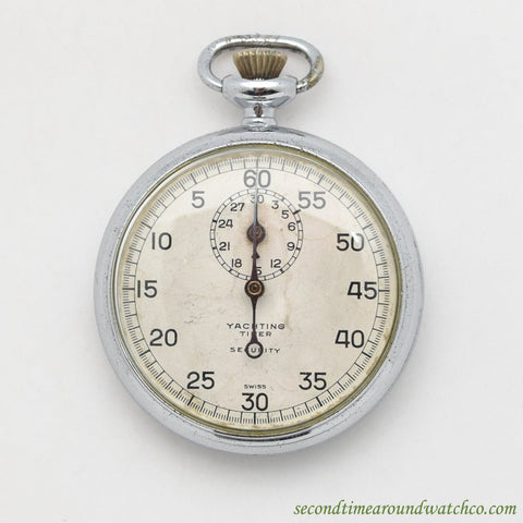1960's Jules Racine & Co. Yachting Timer Stainless Steel Stop Watch