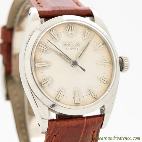 1954 Vintage Rolex Oyster Ref. 6422 Stainless Steel Watch