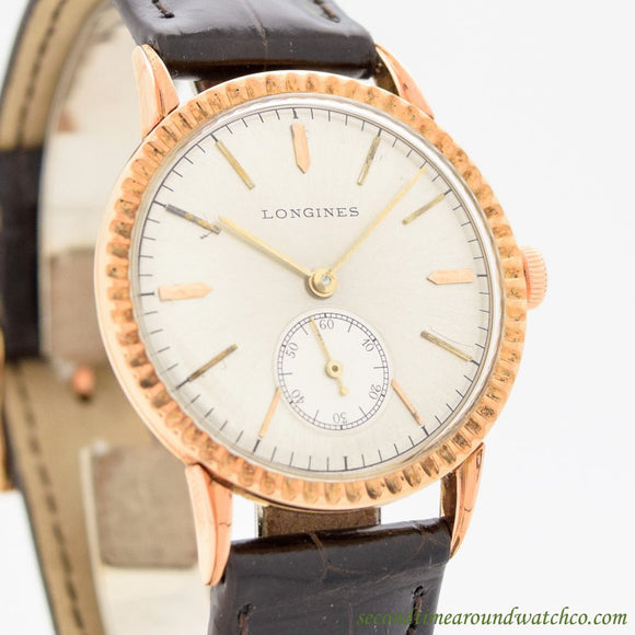 1946 Vintage Longines 14k Rose Gold Watch (# 11010)
