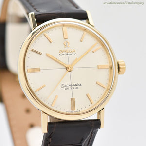 1964 Vintage Omega Seamaster De Ville Reference LL6066 14k Yellow Gold & Stainless Steel Watch