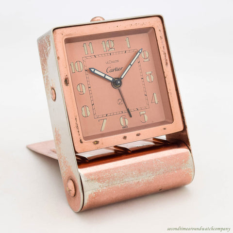 1940's Travel/Table Alarm Clock by CARTIER - LE COULTRE