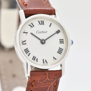1990's Cartier Round Ladies Sterling Silver Watch