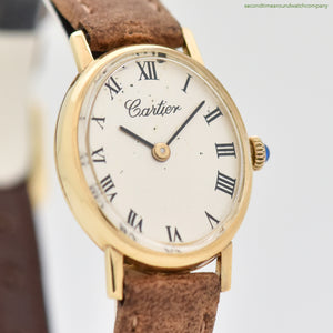 1960's era Cartier Oval-shaped 18k Yellow Gold Watch