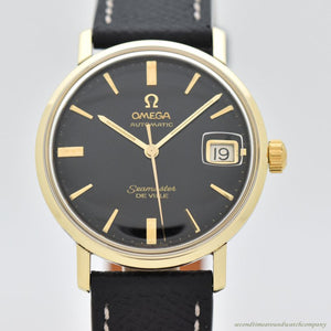 1963 Vintage Omega Seamaster De Ville Reference 166.020 14k Yellow Gold & Stainless Steel Watch