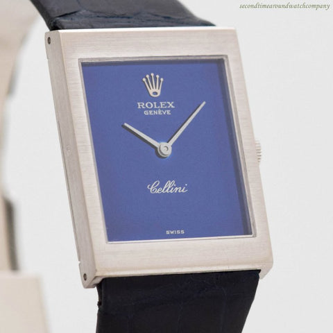 1973 Vintage Rolex Cellini 18k White Gold Watch