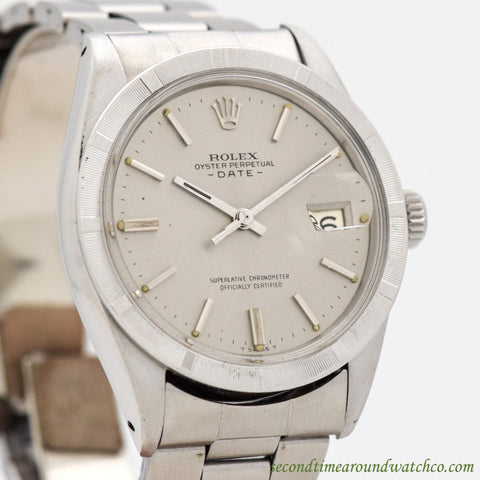 1971 Vintage Rolex Date Automatic Ref. 1501 Stainless Steel Watch