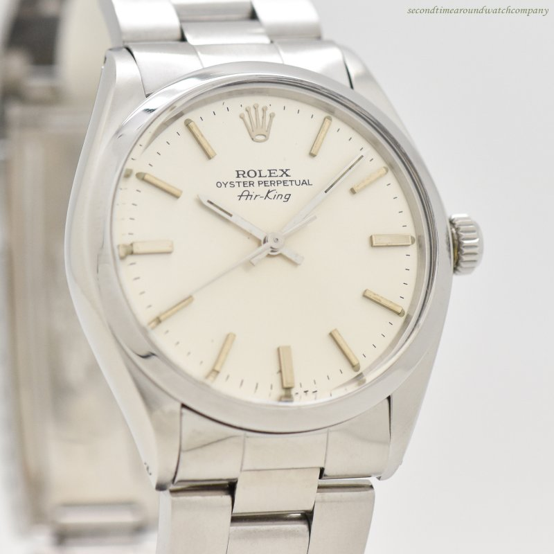 1982 Vintage Rolex Air-King Reference 5500 Stainless Steel Watch