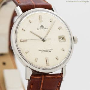1960's era Bucherer Chronometer Automatic Stainless Steel Watch