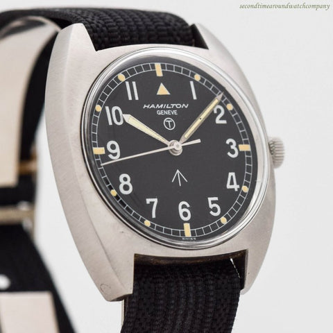 1975 Hamilton W10 Military Stainless Steel Watch