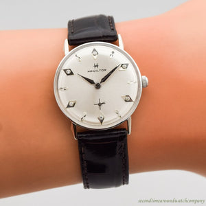 Sold - 1966 Vintage Hamilton Lord Lancaster B 10k White Gold Watch