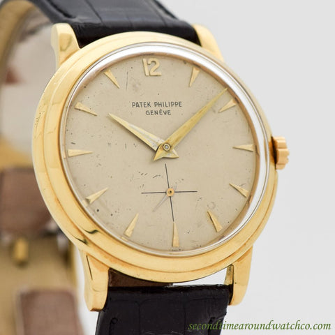 1958 Vintage Patek Philippe Calatrava Disco Volante Ref. 2552 18K Yellow Gold Watch