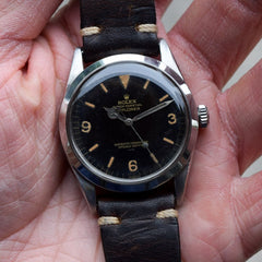 1964 Vintage Rolex Explorer GILT UNDERLINE Ref. 1016 Stainless Steel Watch
