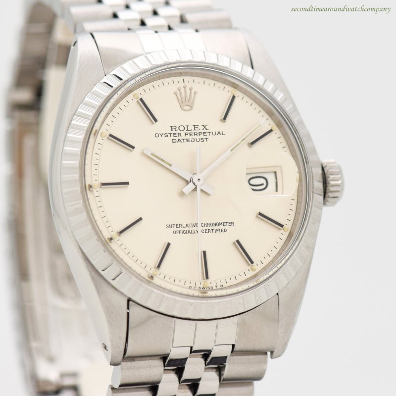1977 Vintage Rolex Datejust Reference 1603 Stainless Steel Watch
