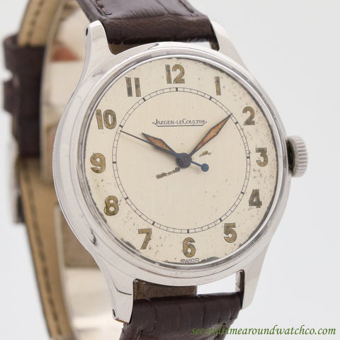 1940's Vintage Jaeger Le Coultre Steel Watch