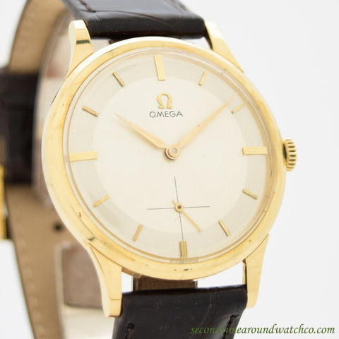 1959 Vintage Omega Ref. 14707-6 18k Yellow Gold Watch