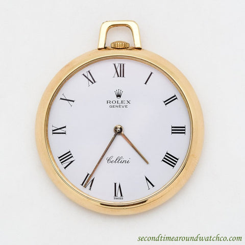 1980's Vintage Rolex Cellini 18k Yellow Gold Pocket Watch