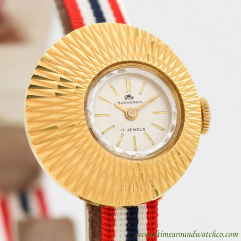 1990's Bucherer Chameleon Ladies Yellow Gold Plated Watch