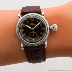 1950's Vintage Doxa Antimagnetique Steel Watch with a Jumbo, Onion Crown