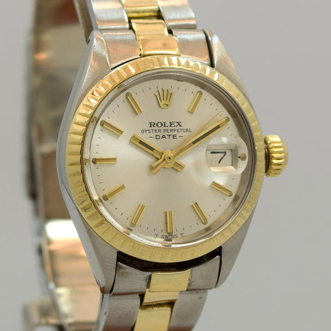 1972 Rolex Ladies Date Automatic Stainless Steel And 14kt Yellow Gold Ref. 6917