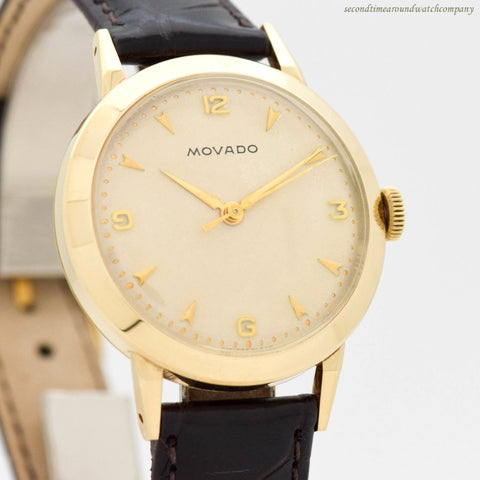 1960's Vintage Movado 14k Yellow Gold Watch