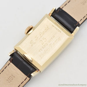 1939 Vintage Hamilton Cambridge Service Award 14k Yellow Gold Watch