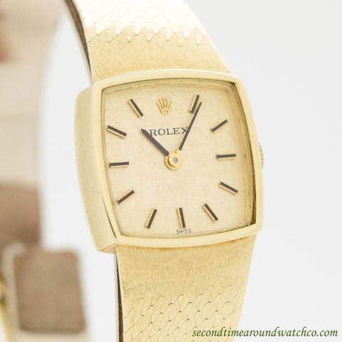 1970's Vintage Rolex Ref. 8316 Ladies 14k Yellow Gold Watch