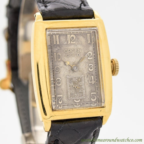 1920's Vintage Gruen Guild 14k Yellow Gold Filled Watch