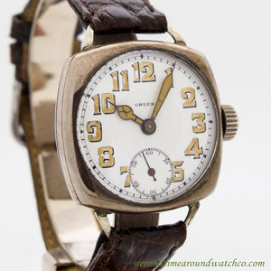 1910's Vintage Gruen Sterling Silver Watch