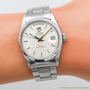 1983 Vintage Tudor Oyster Price Day-Date Ref. 94500 Stainless Steel Watch